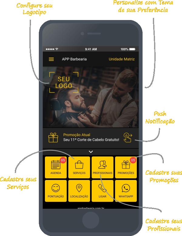 App Barbearia - Aplicativo para Barbearia